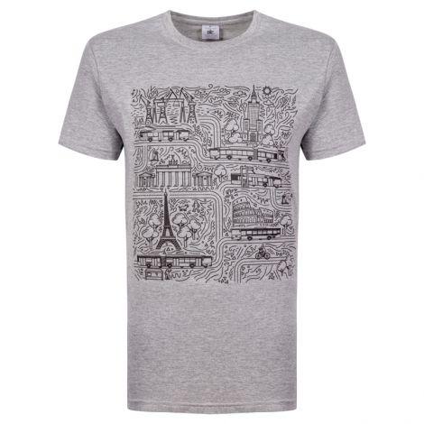 T-shirt męski urbino - szary